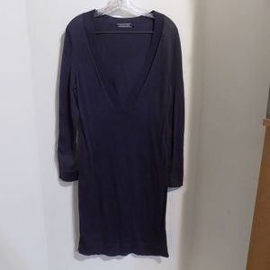 PERUVIAN CONNECTION Blue-Gray Sweater Dress, XS